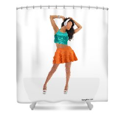 Shower Curtain featuring the digital art Gaby by Nancy Levan