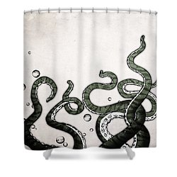 Octopus Tentacles Shower Curtain by Nicklas Gustafsson