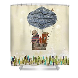 Mr Fox And Bears Adventure  Shower Curtain