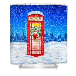 Still Night - A British Christmas Shower Curtain by Mark Tisdale