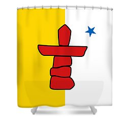 Flag Of Nunavut High Quality Authentic Hd Version Shower Curtain
