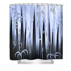 Blue Forest Shower Curtain by Deborah Smith