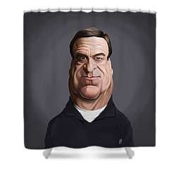Shower Curtain featuring the drawing Celebrity Sunday - John Goodman by Rob Snow