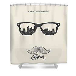 Hipster Neither Lost Nor Found Shower Curtain by BONB Creative