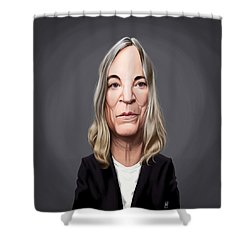 Shower Curtain featuring the drawing Celebrity Sunday - Patti Smith by Rob Snow