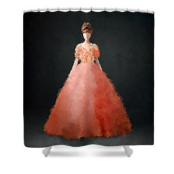 Shower Curtain featuring the digital art Melody by Nancy Levan
