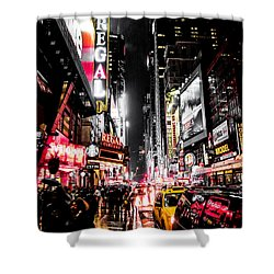 Shower Curtain featuring the photograph New York City Night II by Nicklas Gustafsson