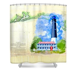 Shower Curtain featuring the mixed media Historic Florida Panhandle - Pensacola by Mark Tisdale