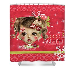 Shower Curtain featuring the mixed media Sabrina - Elf  by Sheena Pike