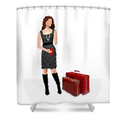 Shower Curtain featuring the digital art Melanie by Nancy Levan
