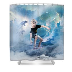 Endless Wave Shower Curtain