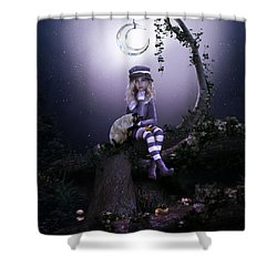 Shower Curtain featuring the digital art Busy Doing Nothing by Shanina Conway