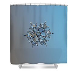Snowflake Photo - Flying Castle Shower Curtain