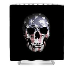 Shower Curtain featuring the digital art American Skull by Nicklas Gustafsson