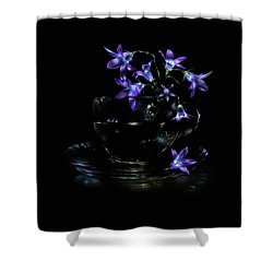Shower Curtain featuring the photograph Bluebells by Alexey Kljatov