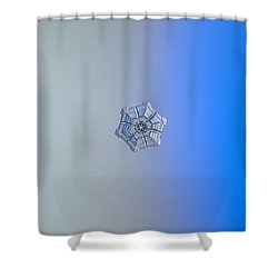 Shower Curtain featuring the photograph Snowflake Photo - Winter Fortress by Alexey Kljatov
