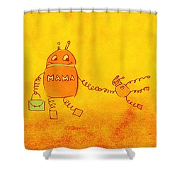 Robomama Shower Curtain