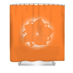 Shower Curtain featuring the painting Fleur Et Coeurs Monochrome by Marc Philippe Joly