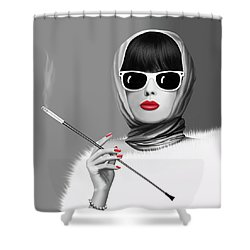 Lady Elegance Shower Curtain by Monika Juengling