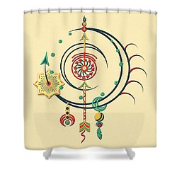 Ornament Variation Three Shower Curtain