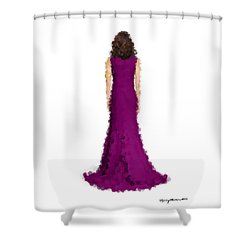 Shower Curtain featuring the digital art Amethyst by Nancy Levan