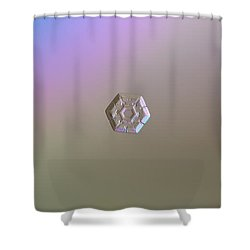 Shower Curtain featuring the photograph Snowflake Photo - Frozen Hearts by Alexey Kljatov