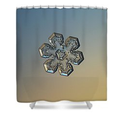 Shower Curtain featuring the photograph Snowflake Photo - Massive Gold by Alexey Kljatov