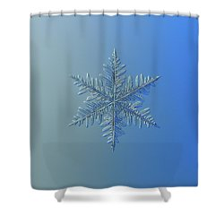 Shower Curtain featuring the photograph Snowflake Photo - Winter Is Coming by Alexey Kljatov