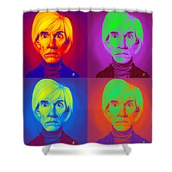 Andy Warhol On Andy Warhol Shower Curtain by Rob Snow