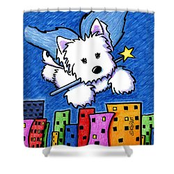 Fairy Princess Westie Shower Curtain