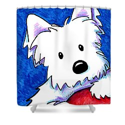 Wendell The Westie Shower Curtain