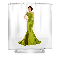 Shower Curtain featuring the digital art Grace by Nancy Levan