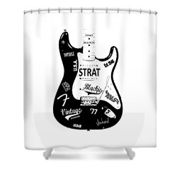 Fender Stratocaster Blackie 77 Shower Curtain