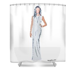 Shower Curtain featuring the digital art April by Nancy Levan