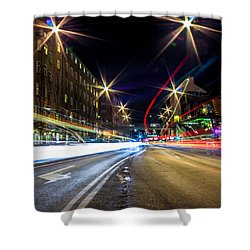 Shower Curtain featuring the photograph Light Trails 2 by Nicklas Gustafsson