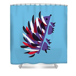 Abstract Colorful Hedgehog Shower Curtain