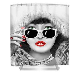 Winter Lady Shower Curtain by Monika Juengling