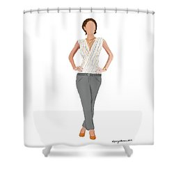 Shower Curtain featuring the digital art Alex by Nancy Levan