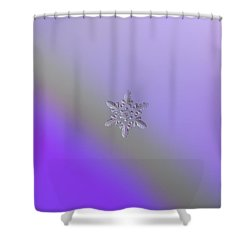 Snowflake Photo - Heart-powered Star Shower Curtain by Alexey Kljatov