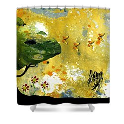 Abstract Acrylic Painting Spring Dance Shower Curtain