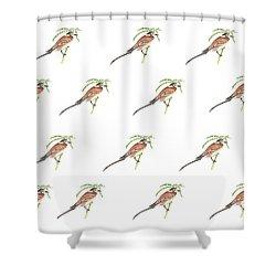 Bisbita Arboreo Shower Curtain