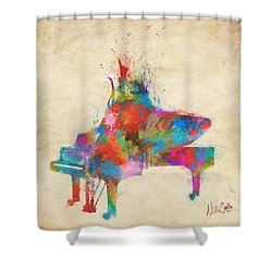 Music Strikes Fire From The Heart Shower Curtain