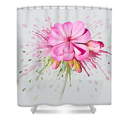 Pink Eruption Shower Curtain