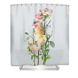 Wild Roses Shower Curtain by Ivana Westin