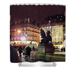 Shower Curtain featuring the photograph Place Saint-michel by Felipe Adan Lerma