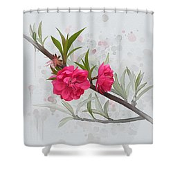 Hot Pink Blossom Shower Curtain