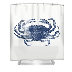 Blue Crab- Art By Linda Woods Shower Curtain