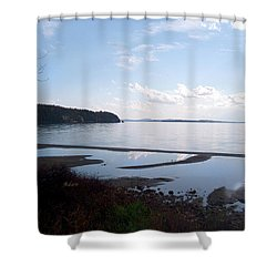 Rock Point North View Horizontal Shower Curtain by Felipe Adan Lerma