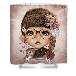 Shower Curtain featuring the drawing Java Joanna by Sheena Pike