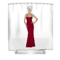 Shower Curtain featuring the digital art Garnet by Nancy Levan